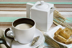 早餐和多士 库存照片