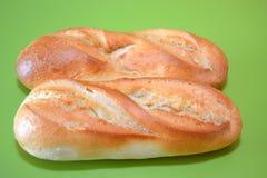 早餐和小吃店的面包 免版税库存照片
