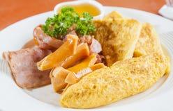 早餐和早晨光 免版税库存图片