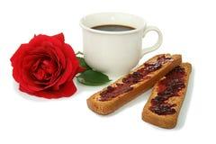 早餐咖啡杯 免版税库存图片