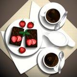 早餐咖啡 库存例证