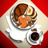 早餐咖啡 向量例证