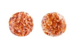 早餐嘎吱咬嚼的巧克力球 免版税库存照片