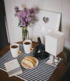 早餐在家 免版税库存图片