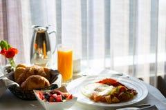 早餐在旅馆 免版税库存图片