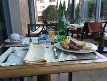早餐在旅馆Oeiras,葡萄牙里 免版税库存图片