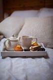 早餐在河床上 免版税图库摄影