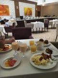 早餐在索契旅馆 免版税库存图片