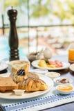 早餐在豪华旅馆 库存图片