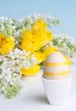 早餐复活节彩蛋 免版税库存照片