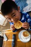 早餐奶蛋烘饼 图库摄影