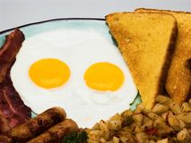 早餐完全鸡蛋 图库摄影
