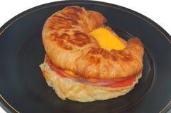早餐干酪火腿三明治 免版税库存图片
