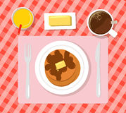 早餐平的例证 免版税库存图片