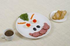 早餐微笑 库存照片