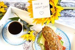 早餐早晨好 库存图片