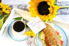 早餐早晨好 免版税库存图片