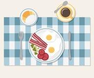 早餐桌设置 免版税库存图片