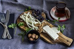 早餐桌 生活方式,烹调 免版税库存图片