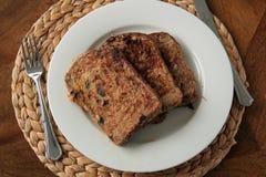 早餐法式多士 免版税库存图片