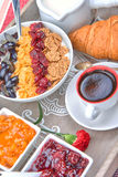 早餐法语 库存图片