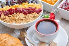 早餐法语 库存照片
