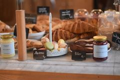 早餐法语 免版税库存照片