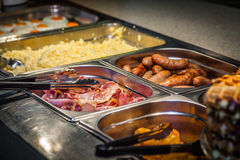 早餐热的自助餐 免版税库存照片