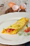 早餐煎蛋卷用火腿,烟肉 库存图片