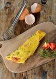 早餐煎蛋卷用火腿,烟肉 库存照片