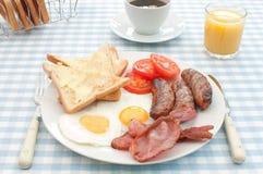 早餐煮熟的英语 免版税库存图片