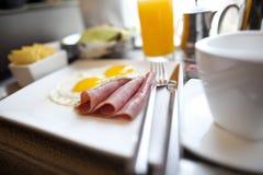 早餐牌照 免版税库存照片