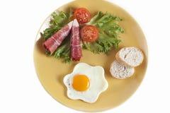 早餐牌照 图库摄影