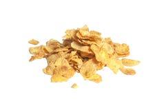 早餐玉米片查出的堆 免版税库存图片