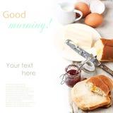 早餐用多士和果酱 库存照片