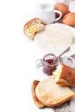 早餐用多士和果酱 免版税库存照片