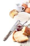 早餐用多士和果酱 库存图片
