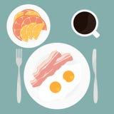 早餐的例证 免版税库存照片