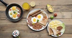 早餐的停止运动在板材的 影视素材