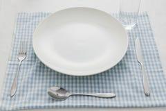 早餐碗筷 免版税库存图片