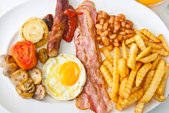 早餐英国传统 库存图片