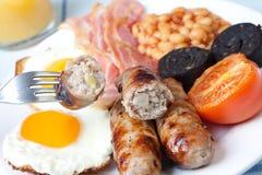 早餐英国充分传统 免版税库存图片
