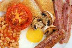 早餐英国充分 库存照片