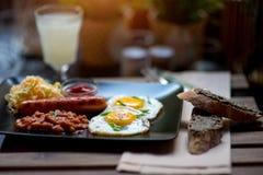 早餐英语 免版税库存图片