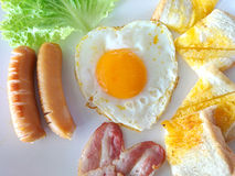 早餐英语 库存图片