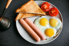 早餐英语 免版税库存照片