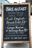 早餐菜单 库存照片