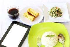 早餐菜单 免版税图库摄影