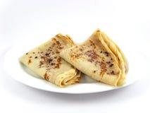 早餐薄煎饼甜点 免版税库存图片