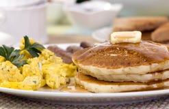 早餐薄煎饼 库存照片